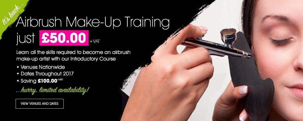 Airbrush Make-Up Training just £50.00+VAT